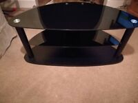 Black glass to stand