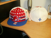 Selling 3 Fitted Hats NHL Quebec Nordics Hockey Team, Size 7 1/4