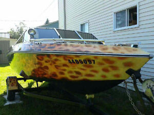 16 feet boat with outboard mercury 90HP