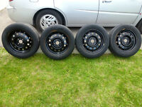 195-60-15 TIRES ON RIMS FOR  CHEVY / GMC