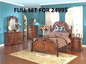 9 PCS BEDROOM SET FOR 999$ ONLY...