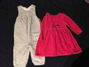 2 Girls Outfits - 12-18 Months