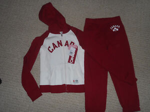 New with tags Girls size 6 Canada Track Suit