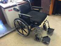 Wheelchair with pad for amputees