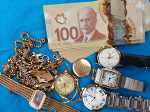ACHETONS MONTRES, BIJOUX, OR $$___WE BUY WATCHES AND GOLD CASH $