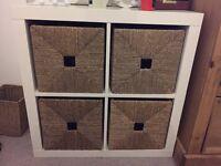 IKEA Kallax 2x2 cube shelving unit and 4 Knipsa Baskets