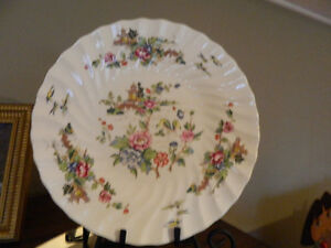 Staffordshire china cake plate set
