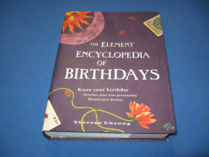 The Element Encyclopedia of Birthdays by Theresa Cheung Hardcove