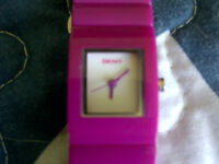 Pink Resin DKNY Watch