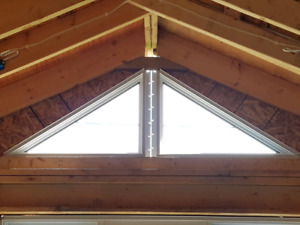 Brand New Fixed Double Triangle windows