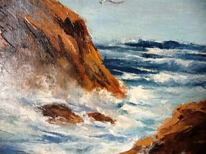 "Original Oil Painting by C. Saunders ""Shoreline"" OceanView Stratford Kitchener Area image 7"