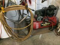 Air compressor Husky 2hp 20 gallon  50ft  hose delivery included
