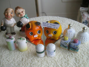 .SIX PAIR of  Adorable  COLLECTIBLE SALT and PEPPERS....