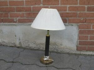 Lamp - with black and gold base