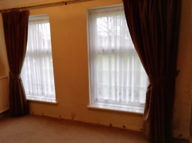 Full length lined curtains