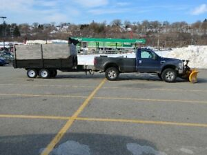 2010 Ford F350 Work Truck With Plow and Trailer