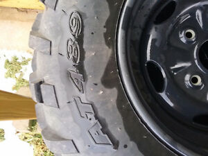 GREAT DEAL Fourwheeler TIRES AND RIMS