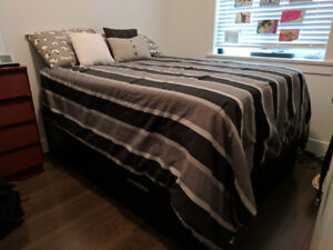 Selling Queen Size bed (frame, mattress and box spring)