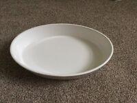 White stoneware oven dish. Lower price