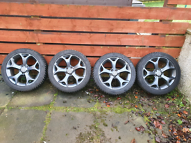 Genuine corsa VXR 17 inch alloy wheels with winter tyres