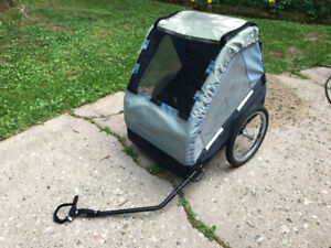 Double children's bicycle trailer