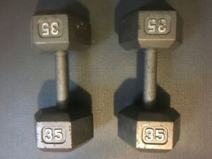 Two 35 LBS Dumbbells for $45.00