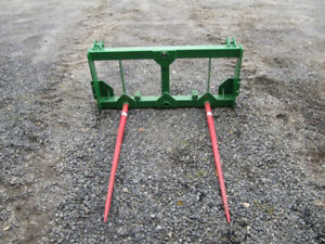 john deere loader  hay spears