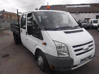 FORD TRANSIT 350 LWB DOUBLE CAB TIPPER, White, Manual, Diesel, 2007