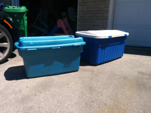 2 large storage containers