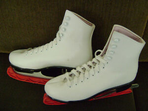 ladies white figure skates