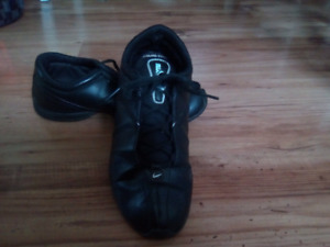Black Leather Nike running shoes