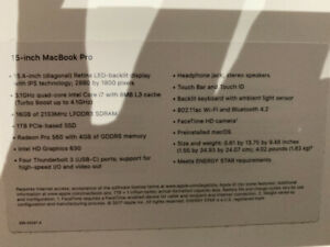 15-Inch MacBook Pro Retina A1707- 2017 Model