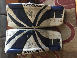 Hockey Goalie Pads Bauer and Reebok
