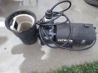 one hayward moter just needs cover works well $65 450-628-4656 5