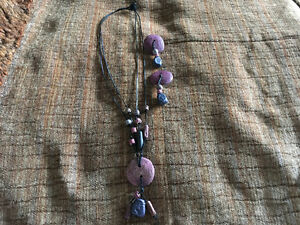 Handmade in Grenada-Necklace and clip-on earring set