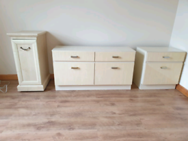Set of 3 Drawers, and 1 bedside Cabinet