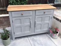 Ercol oak sideboard chic painted upcycled