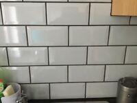 Metro Ceramic Wall Tile White (200x100mm) 35