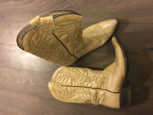 Genuine Leather Light/Tan Western Boots