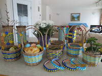 Basket and Vase For Sale