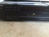 Sony 5 disk cd player