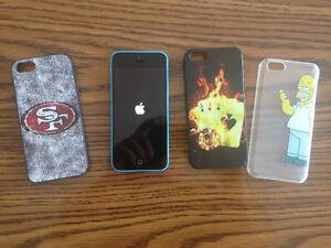 Téléphone iPhone 5c - 16G avec trois couvercles