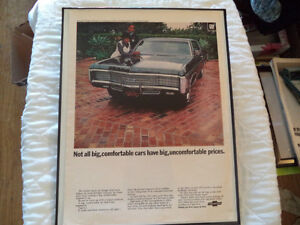 OLD CHEVY CLASSIC CAR FRAMED AD Windsor Region Ontario image 8