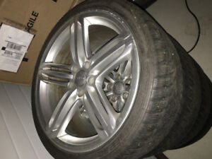 2011 Audi S4 winter wheel with tires.