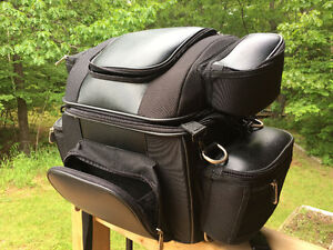 Black Motorcycle Travel Luggage Bag