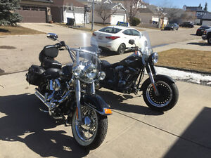 His and hers 2012 Heritage SHRINE and a 2010 FATBOY