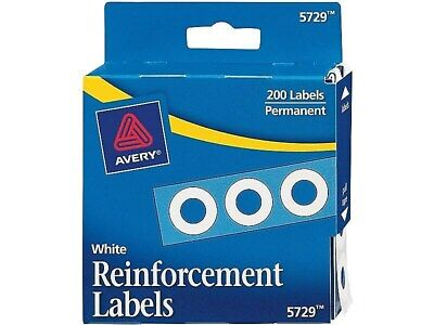 Avery Self-Adhesive Plastic Reinforcement Labels White 166306