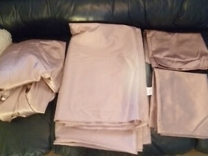 Selling Light Purple No Iron Double Silky Bed Sheet Set