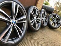 "Genuine BMW 3 4 Series 19"" 442 M Sport Alloy Wheels & Tyres F30 F31 F32 F33 F34 F36 E90 E92 Z4"