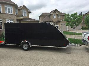 2017 Sno-pro Hybrid 7.5 x 16 ft ATV/Snowmobile Trailer